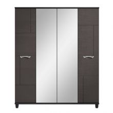 Moda 4 Door Centre Mirrored Robe